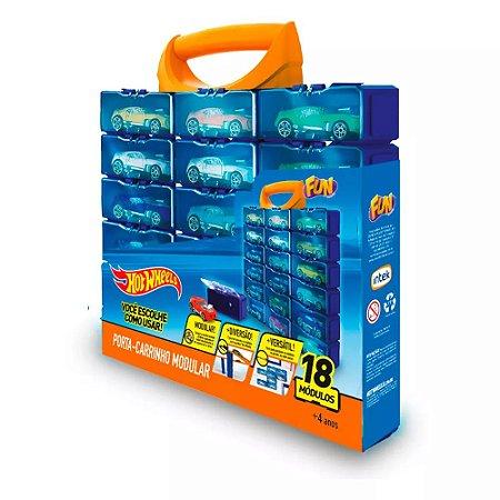 Maleta Hot Wheels Porta Carrinho para 18 Carros 8266-4