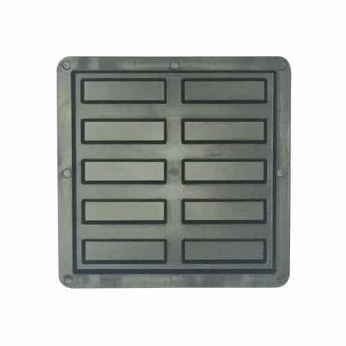 Kit 10 Formas Plásticas de Piso Antiderrapante 10 Frisos 20x20x1,5cm - FP104