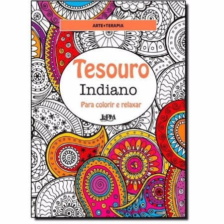 Tesouro Indiano Livro Para Colorir E Relaxar Antiestresse
