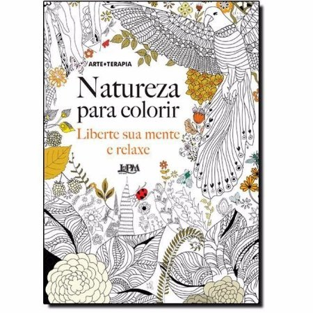 Livro Natureza Para Colorir Adulto Antiestresse Arteterapia