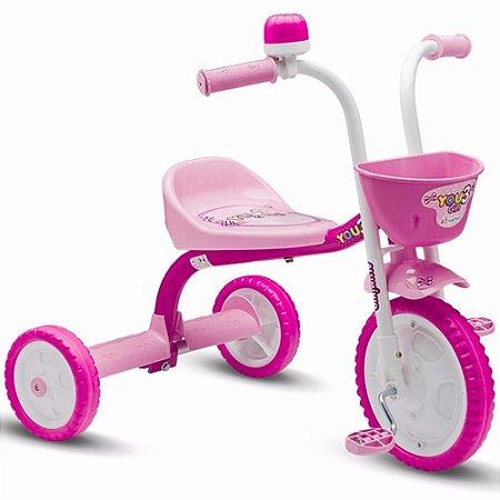 Triciclo Infantil Bicicleta Nathor Aro 5 Menina Bebe Criança