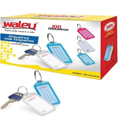 Chaveiro Organizador Identificador de chaves Caixa c/ 100 Unidades