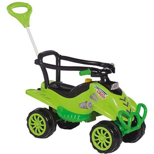 Carrinho de Passeio Infantil Verde 2 em 1 com Pedal Brinquedo Menino - Calesita
