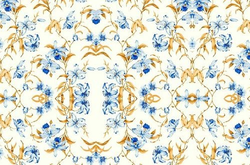 Papel De Parede Adesivo Flor Lírio Azul
