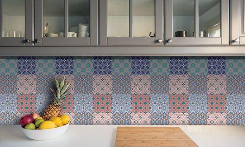 Papel de Parede Adesivo Azulejo Coimbra 18 Peças 15x15cm