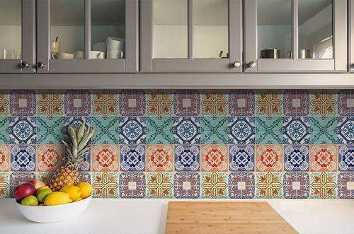 Papel de Parede Adesivo Azulejo Lisboa 18 Peças 15x15cm