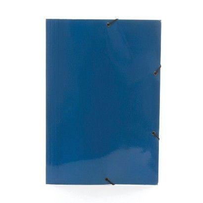 Pasta C/ Elástico Papelão Dello Azul Escuro