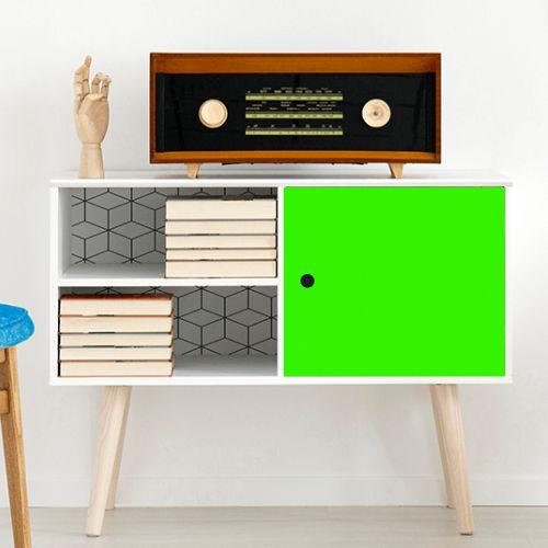 Papel de Parede Adesivo Liso Verde Neon Fosco