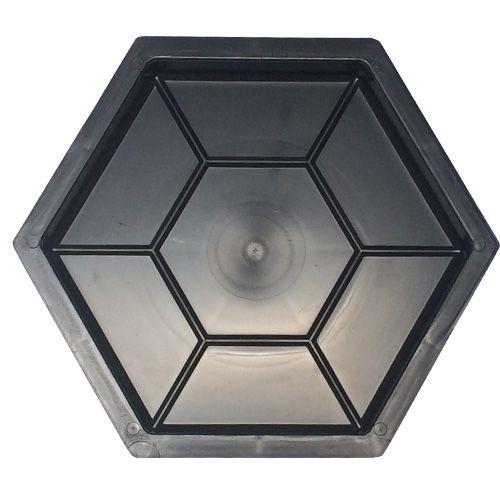 Forma Plástica Sextavado Estria Bloquete 30x30x4,5cm - FP011