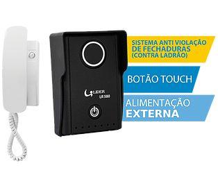Interfone Lider LR 580 Smart | Botão Touch