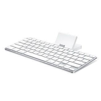 Teclado Apple iPad Keyboard Dock - Branco/Prata - MC533LL/B / A1