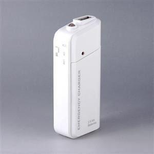 Carregador de Emergência USB para celular  iPhone Android com Lanterna LED