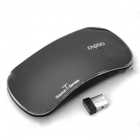 Mouse Multi-Touch Wireless 1000DPI Optical Genuine Rapoo 2.4GHz - Black (1 x AA)