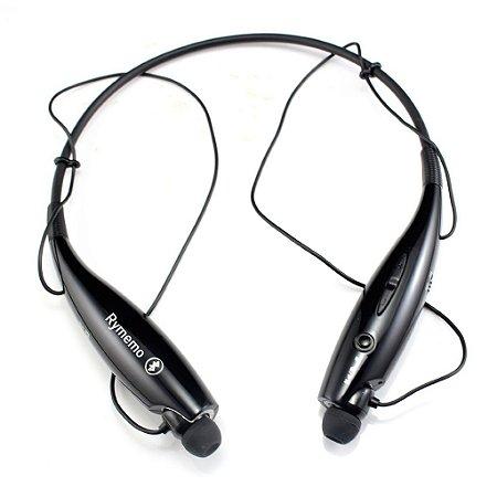 Fone de Ouvido Bluetooth branco stereo compatível iPhone Android etc