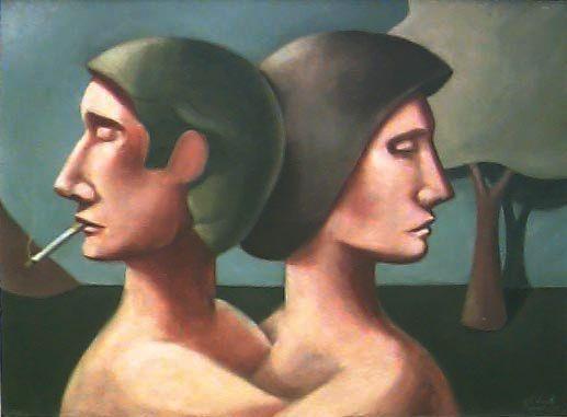 O Desencontro - Gil Vicente (PE) - OLSTA - 060x080 - Com moldura - Ass.Cid 1977