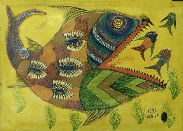 Peixes - Chico da Silva (CE) - OLST - 048x068cm.