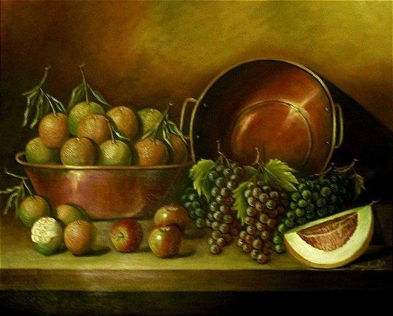 Frutas nos Tachos - Graça Azoubel (PE) - Óleo s/Tela - 080x100cm.