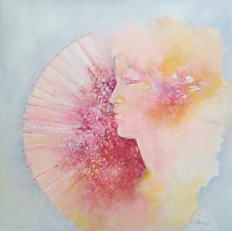Homenagem a Berthe Morisot - Celina (CE) - Acrílica s/Tela - 060x060cm.