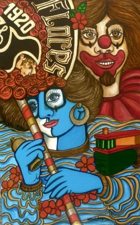 Bloco das Flores - Wilton de Souza - Acrílica s/Cartão - 080x050 - CID2013