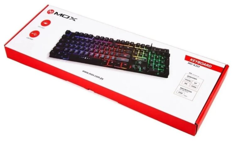 Teclado Mox Keyboard Mo-k351 Usb Led Ligth
