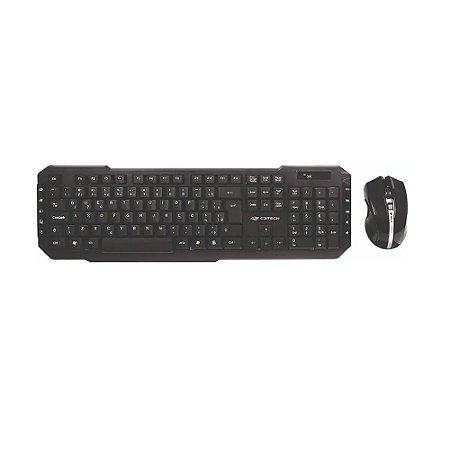 Teclado E Mouse S/ Fio C3tech K-w40 10 Teclas Especiais