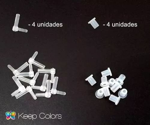 40 Conectores L + 40 Arroelas De Silicone P/ Bulk Ink