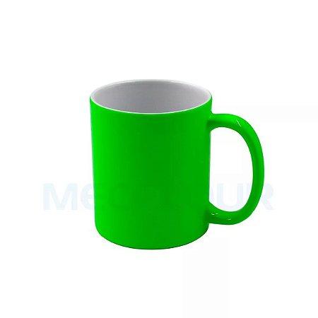 18 Canecas Neon Verde Clara Resinada P/ Sublimação AAA Mecolour
