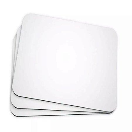100 Mouse Pad Retangular Branco Resinado Sublimação Mecolour