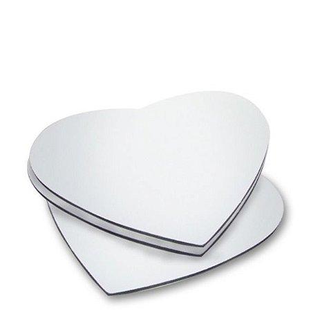 5 Azulejos Branco Coração Resinado Para Sublimação Mecolour