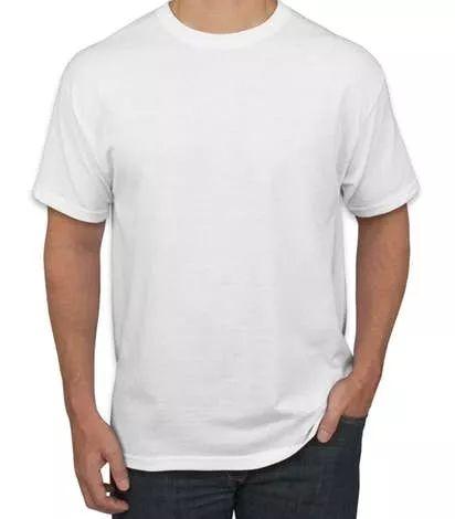 50 Camisetas Brancas De Poliéster Para Sublimação