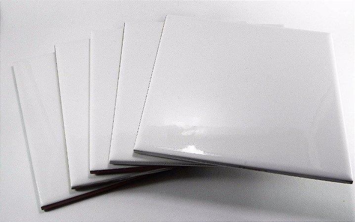 100 Azulejos Brancos Resinados P/ Sublimação 15x15