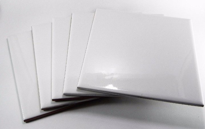 100 Azulejos Brancos Resinados Para Sublimação 20x20