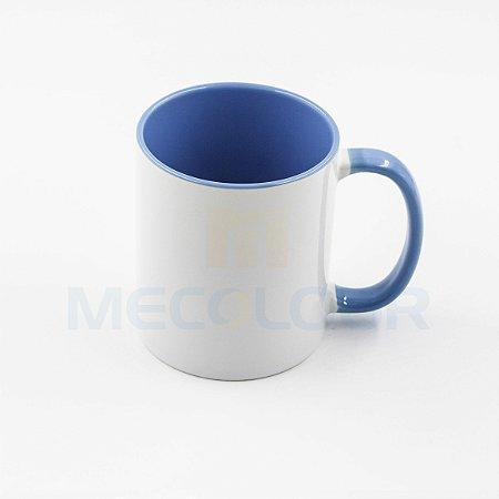 180 Canecas Interior Alça Azul Clara Sublimação Aaa Mecolour