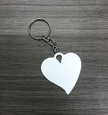 10 Chaveiros Coração Resinado Para Sublimação Alta Qualidade