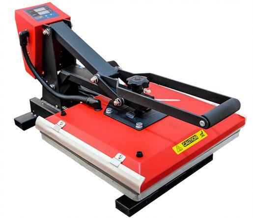 Prensa Térmica 38x38 Vermelha 220v Semi Automática Mecolour