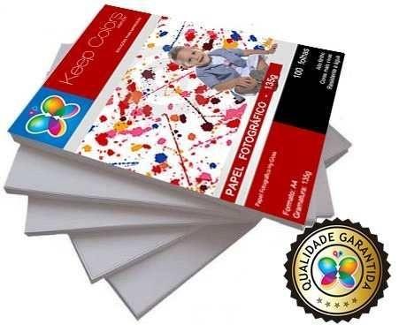Papel Fotográfico 130g Hy-Glossy Prova Dágua 100 folhas A4