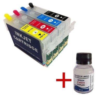 Cartuchos Recarregáveis C63 C83 Cx6300 Kit Limpeza + Tinta