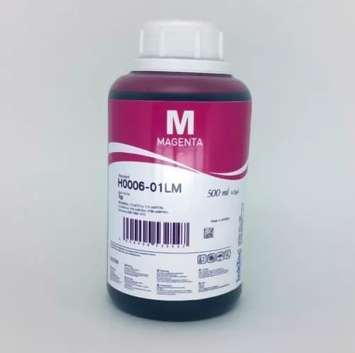 500 Ml - Tinta Corante Inktec Hp - Magenta - H0006 - Recarga