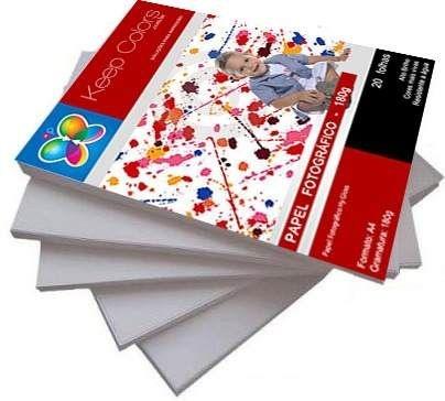 Papel Fotográfico 180g Hy-Glossy Prova Dágua 20 folhas A4