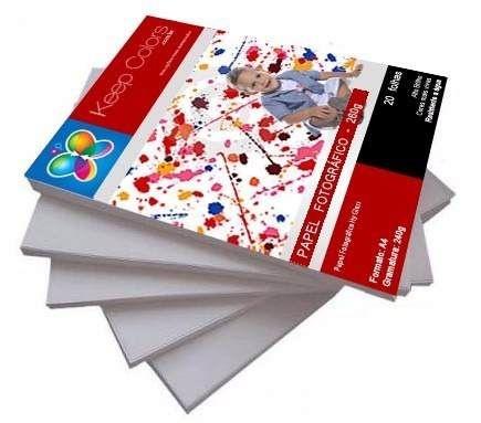 Papel Fotográfico 260g Hy-Glossy Prova Dágua 1000 folhas A4
