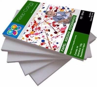 Papel Fotográfico Adesivo 135g Prova Dágua 500 folhas A3