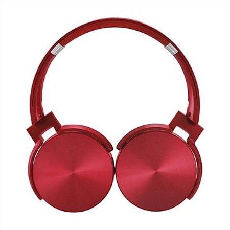 Fone de ouvido vermelho bluetooth
