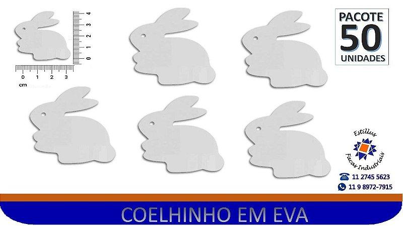 RECORTE COELHO EVA BRANCO - PCTE 50Unid