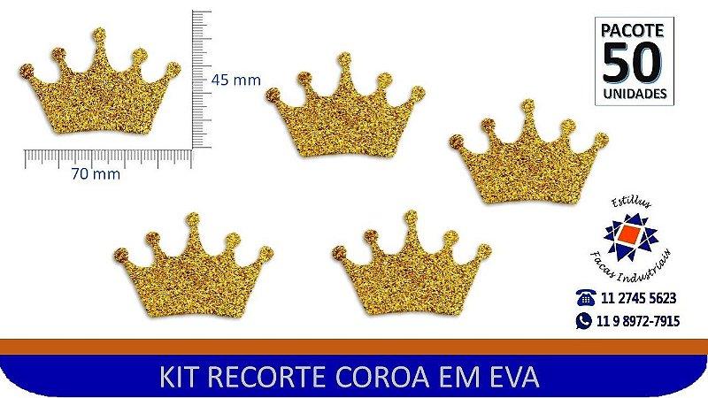 #KIT RECORTE COROA EVA COM GLITER