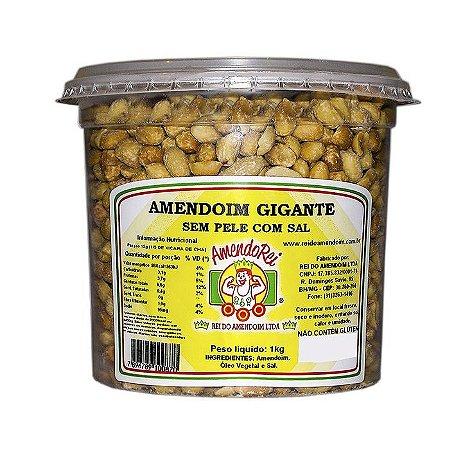 Amendoim Gigante Com Sal Sem Pele 1Kg