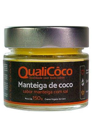 Manteiga de Coco Qualicoco - Sabor Manteiga com Sal 200g