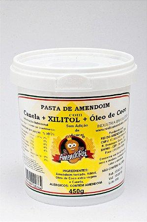 Pasta de Amendoim com Xilitol + Óleo de Coco + Canela 450g