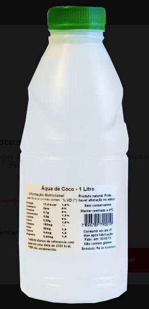 Agua de coco natural integral 1 litro