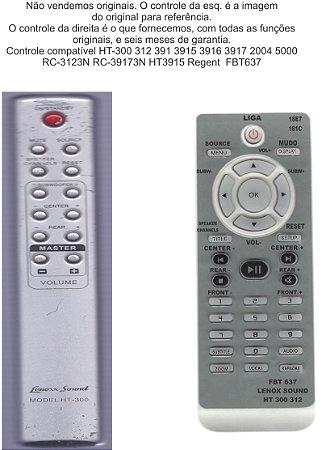 Controle Remoto Compatível Lenoxx Home HT300 FBT637