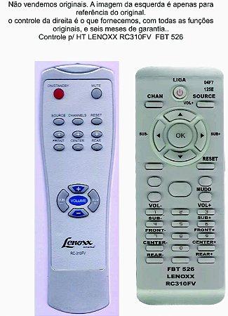 Controle Remoto Compatível Lenoxx HT310 RC310FV FBT0526